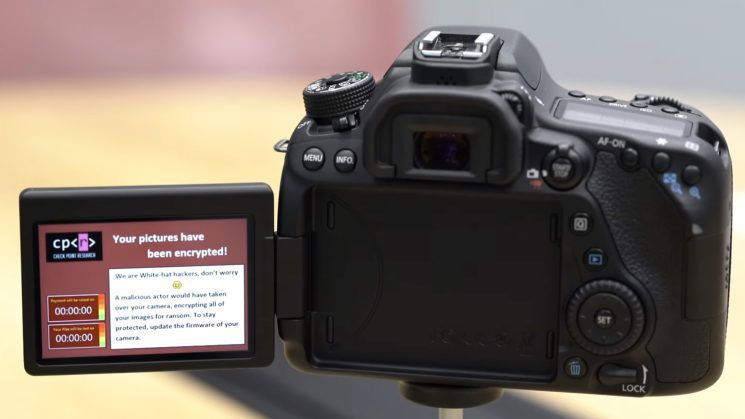 Canon DSLR cameras found vulnerable to ransomware