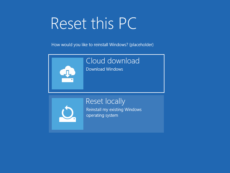 "Microsoft to add Mac like ""cloud download"" to the Windows 10 installation"
